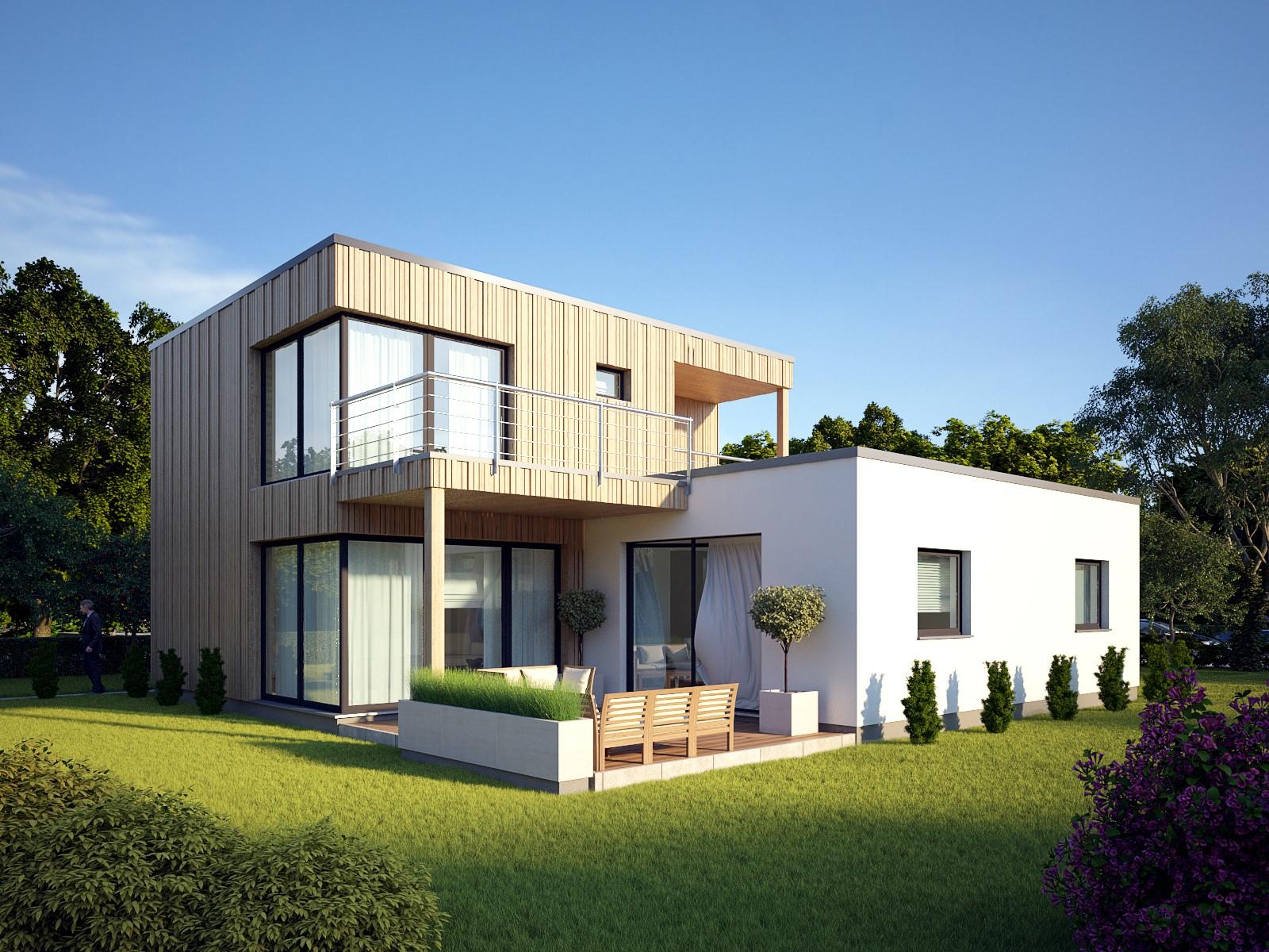 Absolut nicht fad, wirkt dieser Entwurf von Max Haus, der auch über mehrere Stockwerke gebaut werden kann.