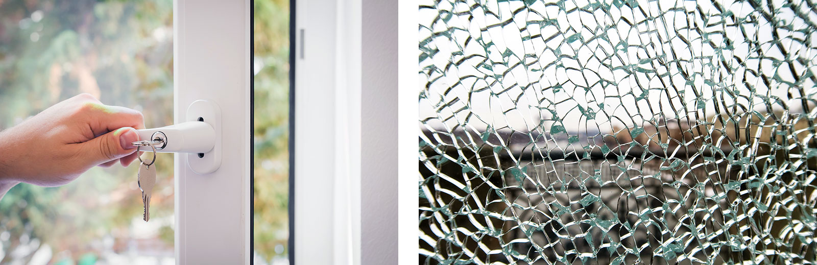 Mehr Sicherheit durch abschließbare Fenstergriffe und Spezialglas