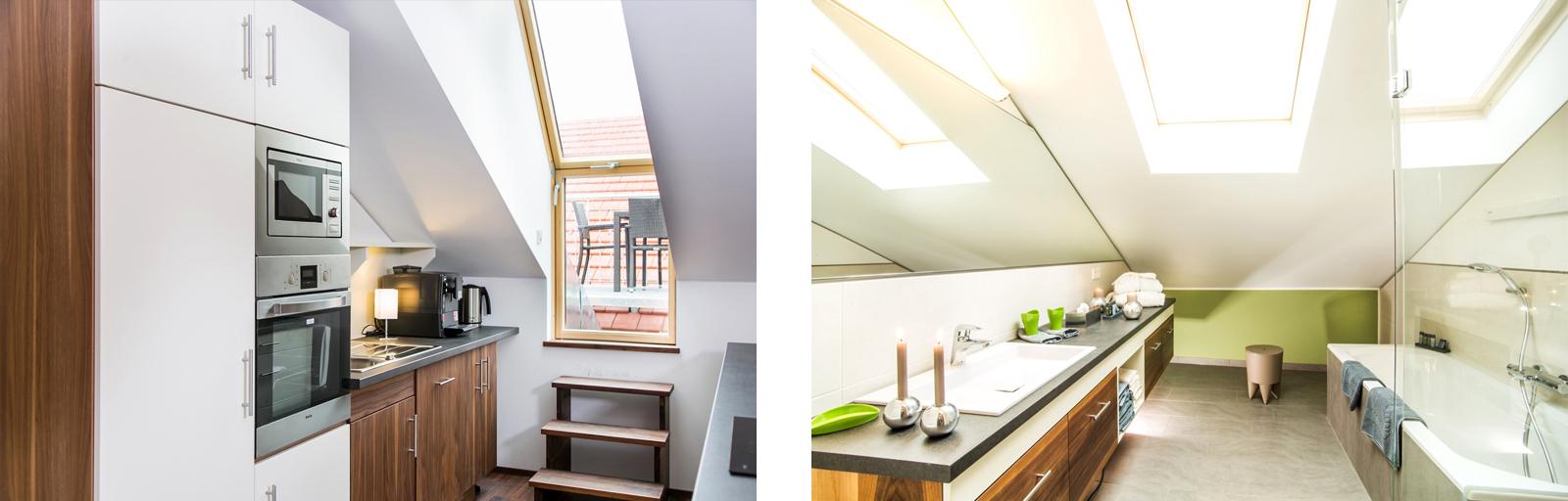 Akzente setzen: Mit Terrassenausgängen und Spiegelwänden öffnet sich der Raum.