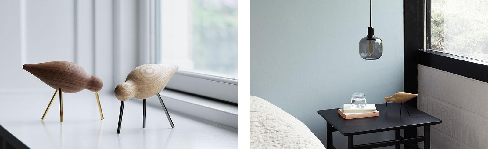 "Skandinavisches Design: ""Shorebirds"" und ""Amp Lamp"" (Links)"