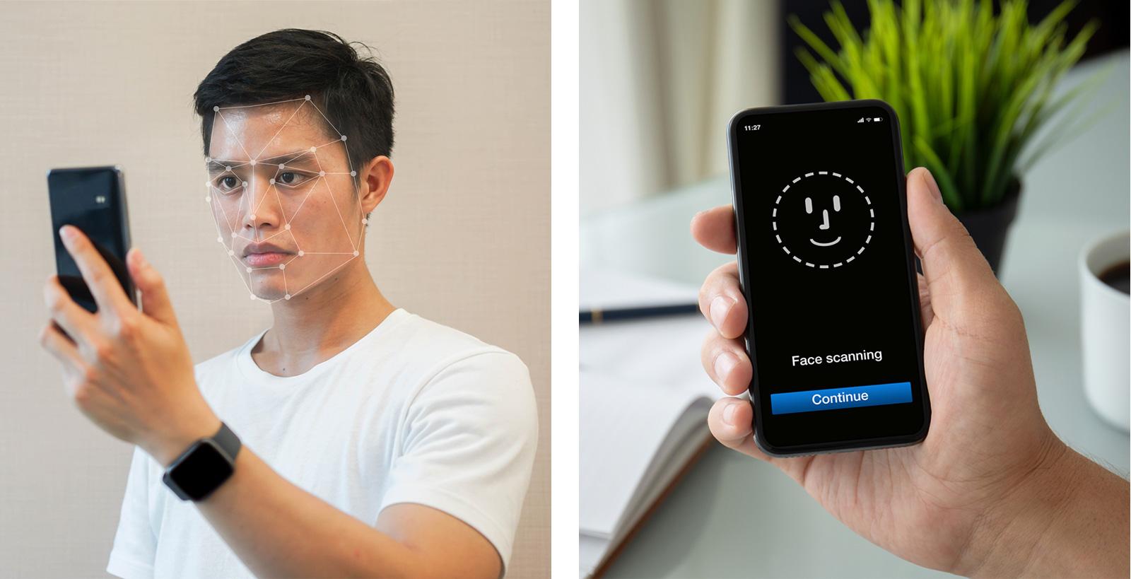 Gesichtserkennung  mit dem Smartphone