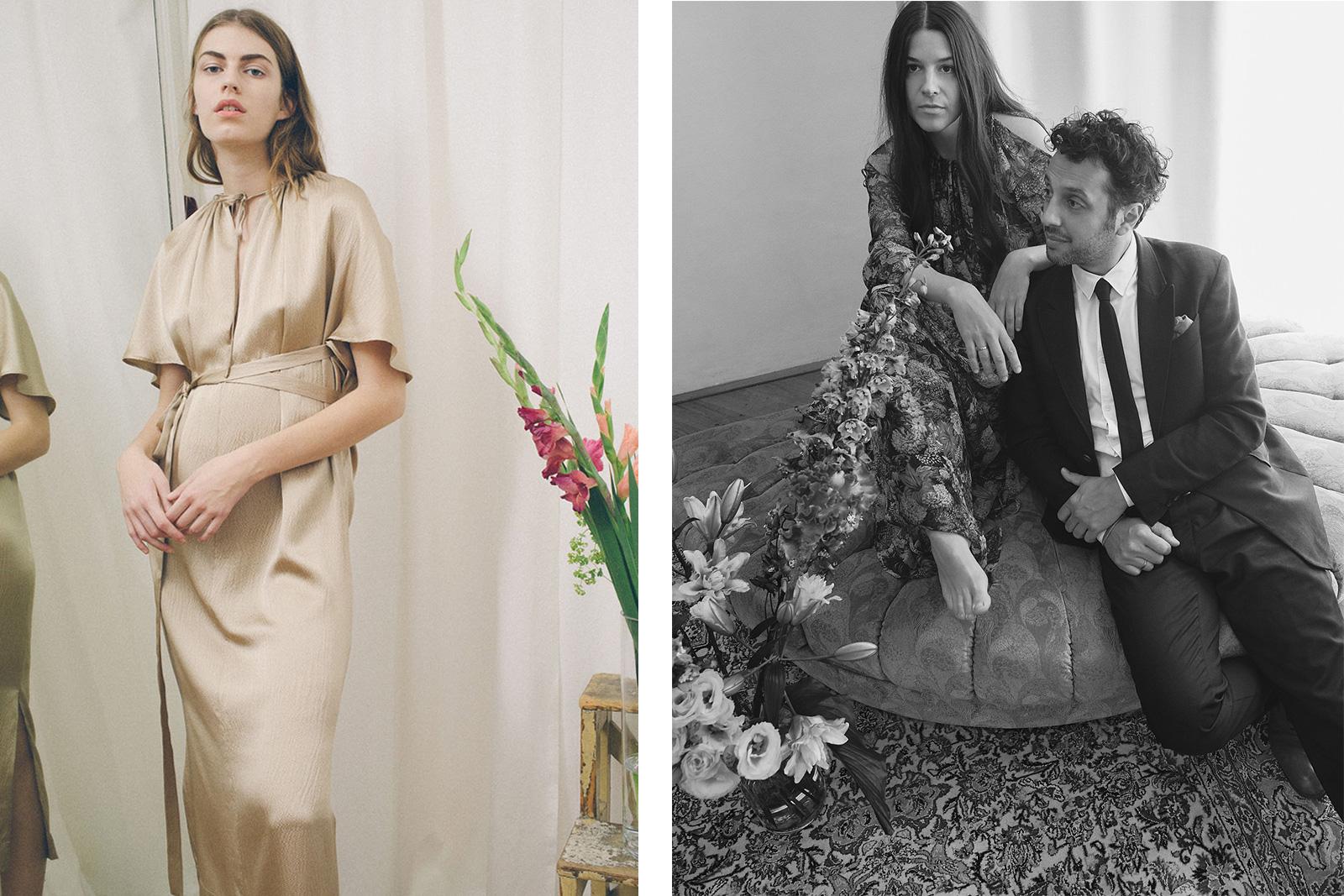 links: Kleid von Maison Femme, rechts: Franziska Fürpass-Kermani und Sia Ali-Pour-Kermani