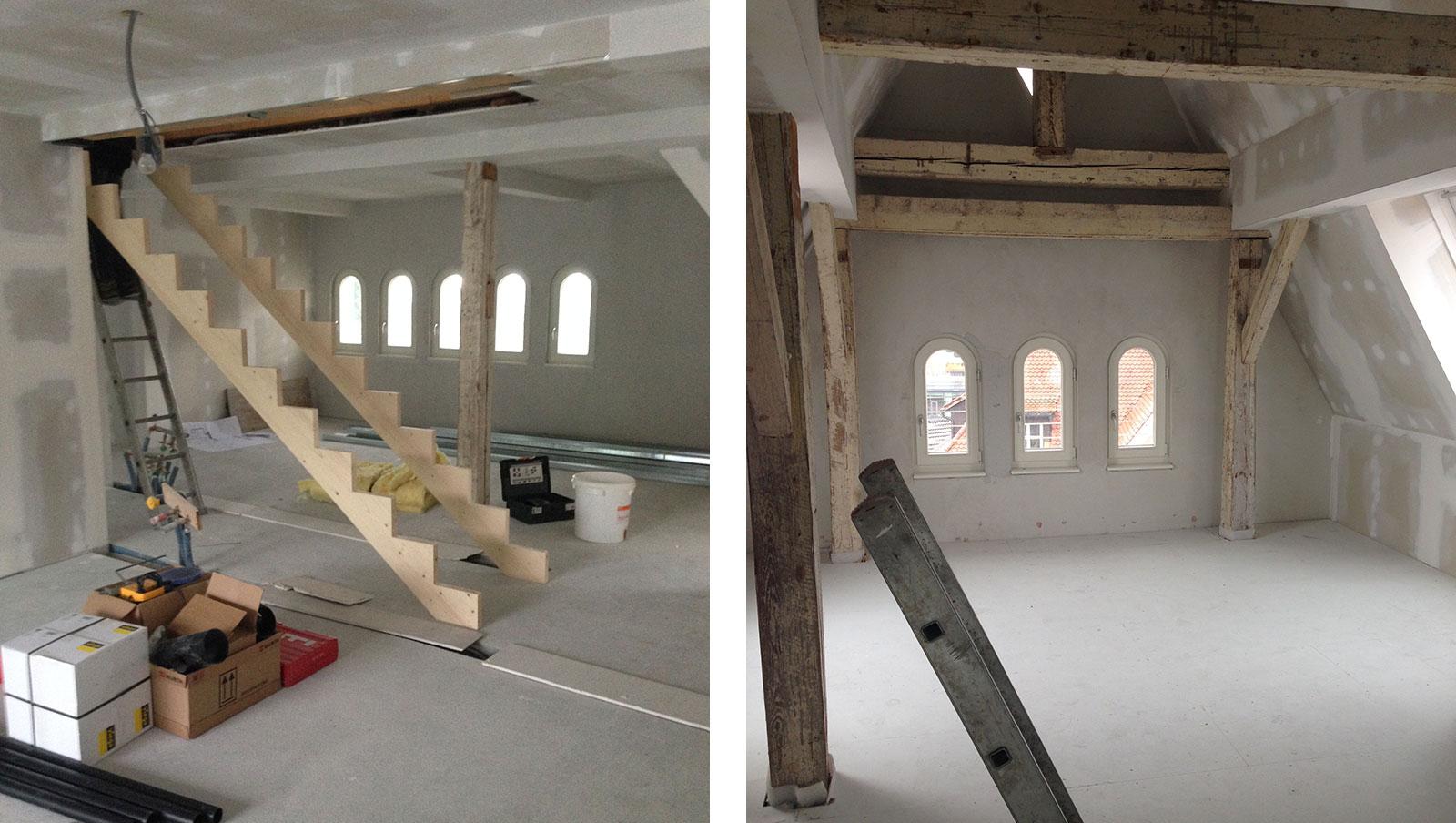 Der Ausbau der Dachgeschossmaisonette