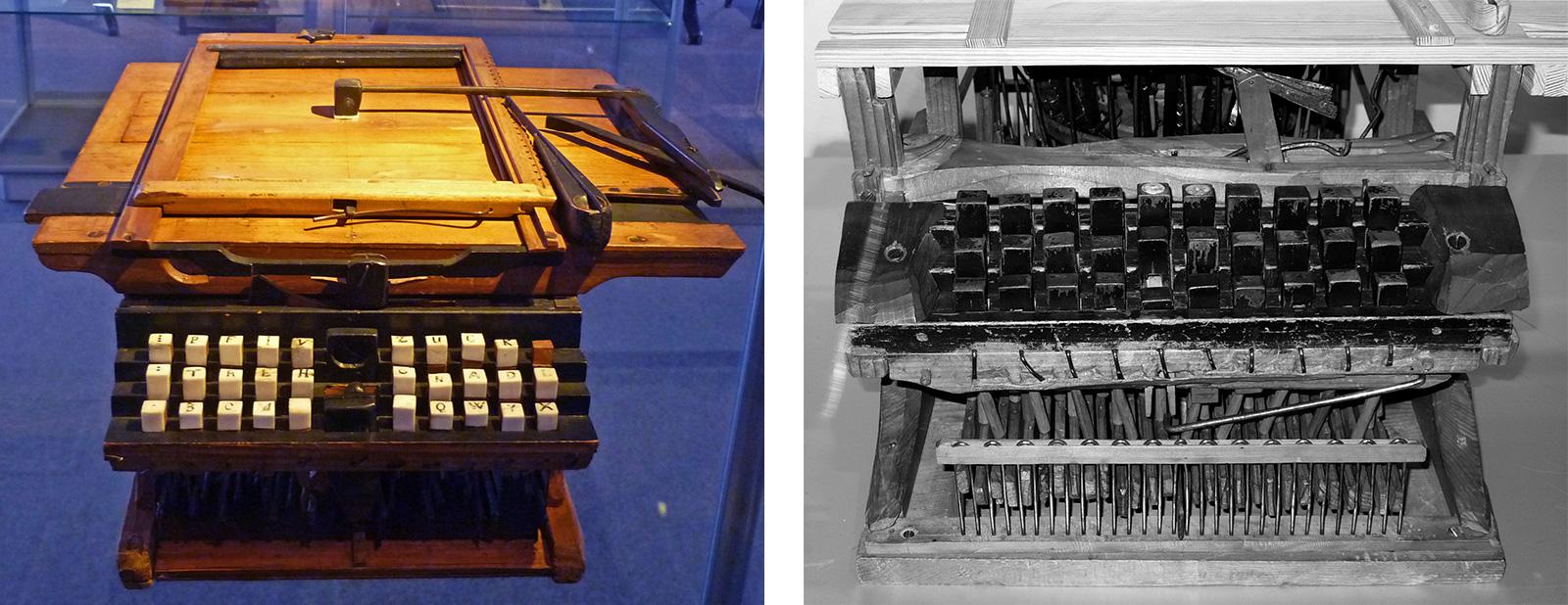 Schreibmschinen von Peter Mitterhofer