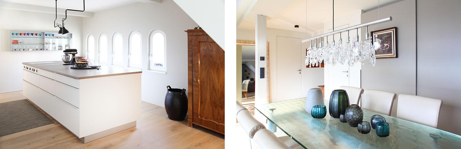 Eklektischer Einrichtungsstil in Küche und Eßzimmer