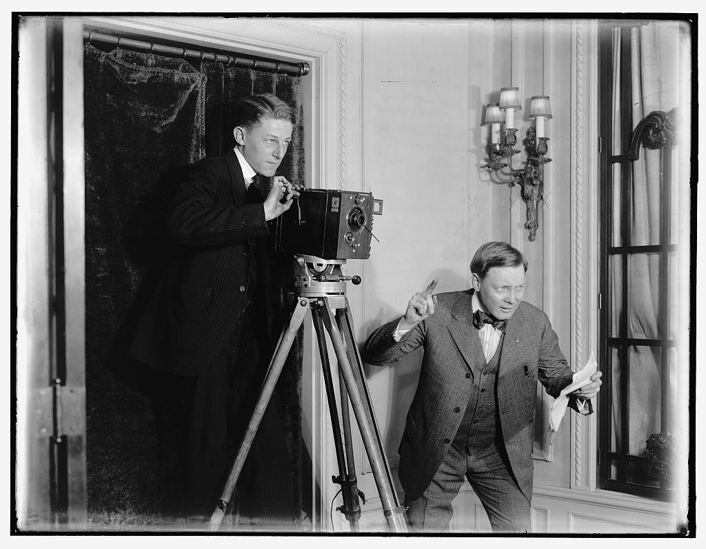 Dreharbeiten um 1920