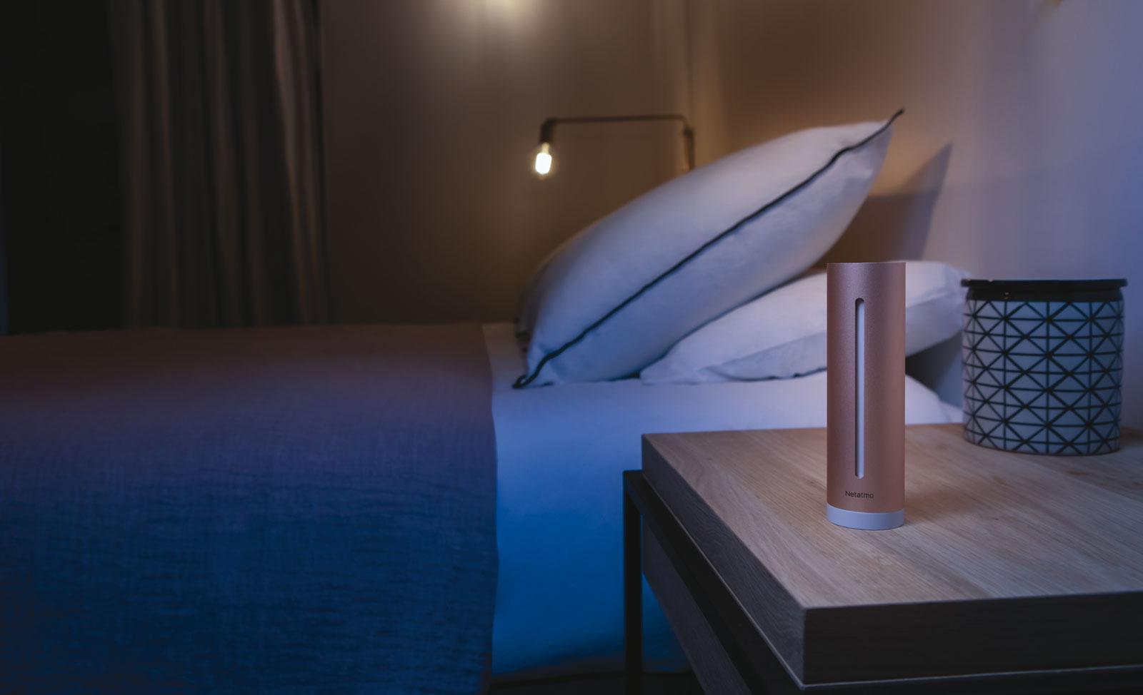Netatmo Healthy Home Coach misst Temperatur, Luftfeuchtigkeit und Geräuschpegel.