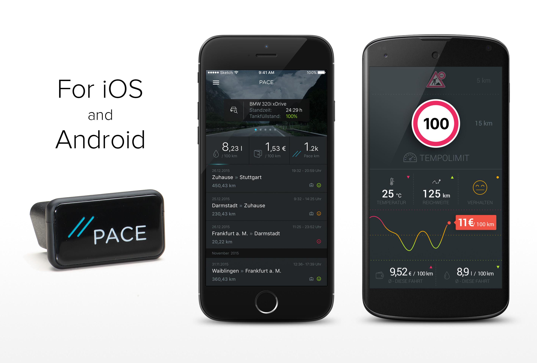 Die App für Android und iOS gibt Aufschluss über Motorauslastung, Benzinverbrauch und speichert Fahrten.