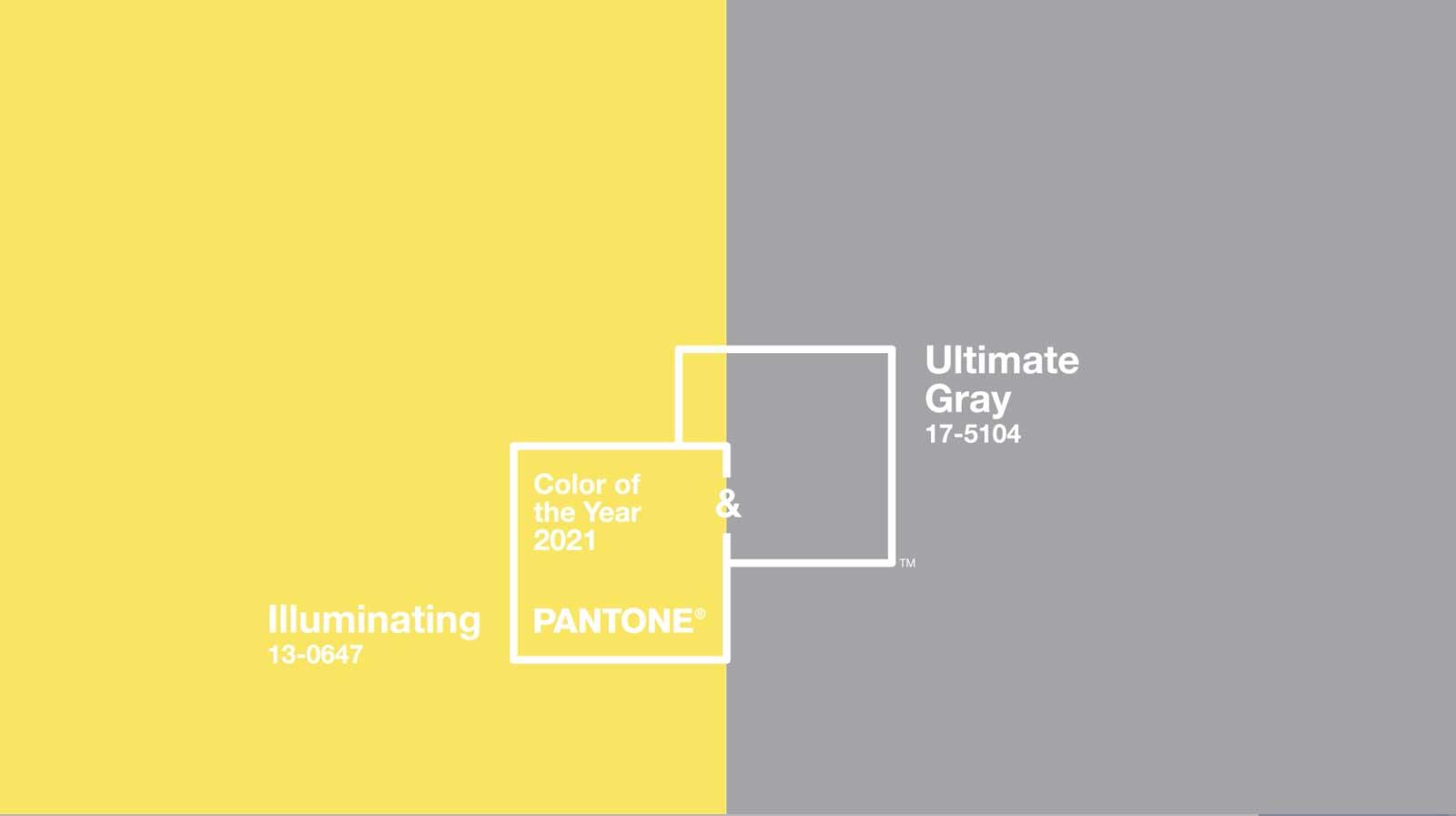 Die Bezeichnung der beiden Trendfarben im Pantone Farbsystem