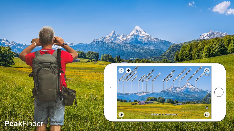 Mehr wissen: Mit dieser App lernst du die Berge beim Namen kennen.