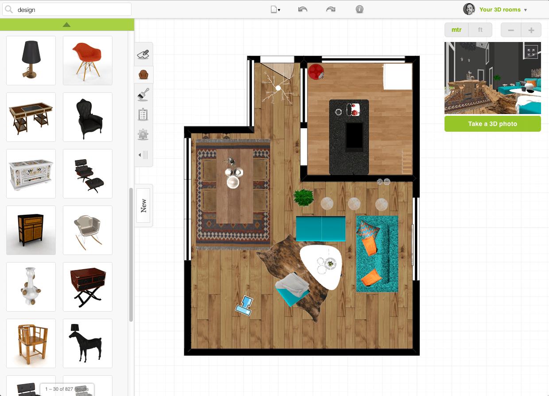 Intuitiver 3D-Planer: Mit Roomstyler kannst du deine Räume virtuell gestalten.