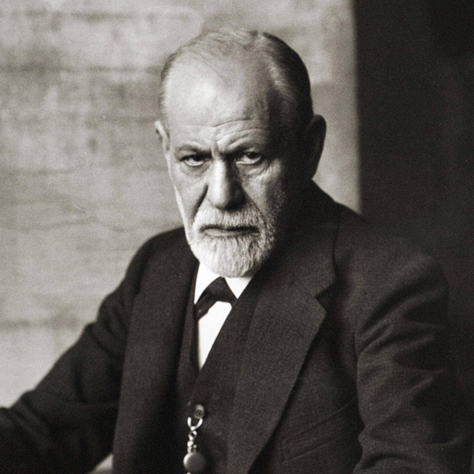 Sigmund Freud 1926 auf einem Porträt-Foto von Ferdinand Schmutzer