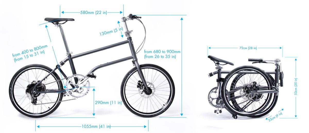 Zusammengefaltet passt das Vello Bike in jeden Kofferraum.