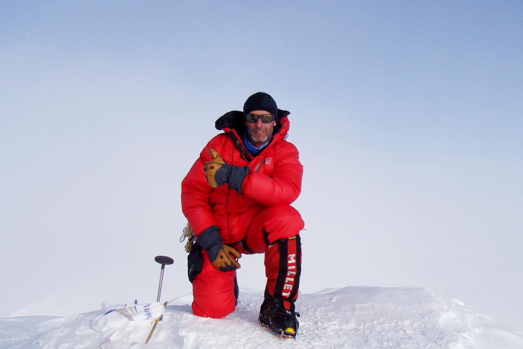 Rupert Hauer auf dem Denali (6.193 m)