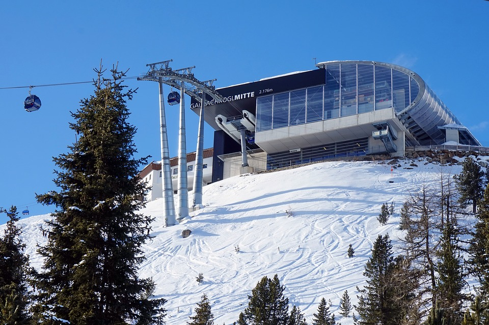 Die Gaislachkogel-Bergstation in Sölden