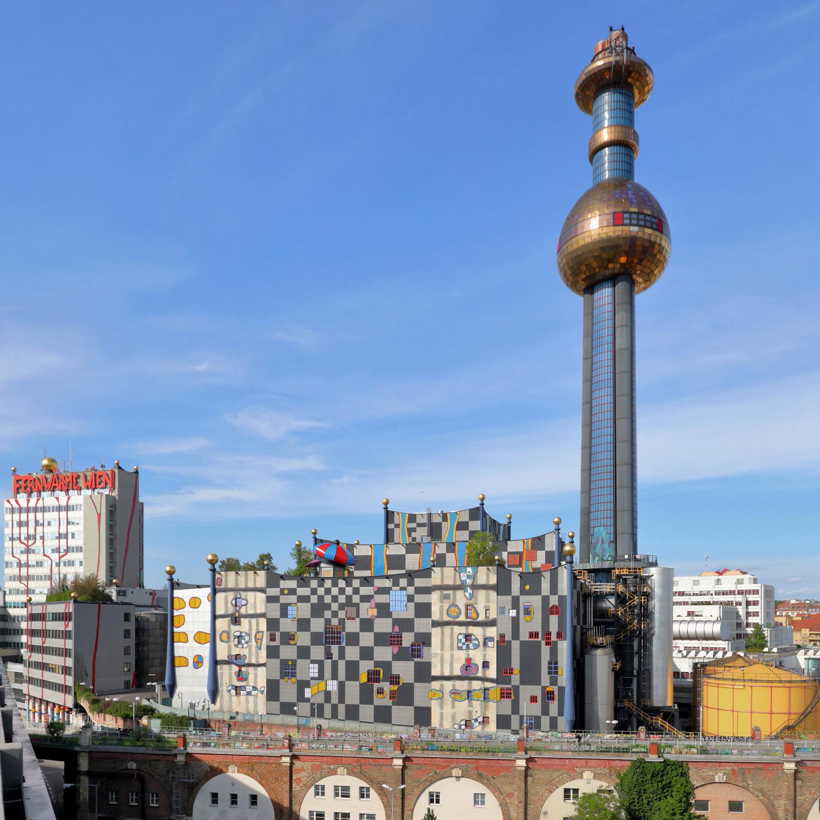 Die Müllverbrennungsanlage in Spittelau ist der zweitgrößten Fernwärme-Erzeuger Wiens.