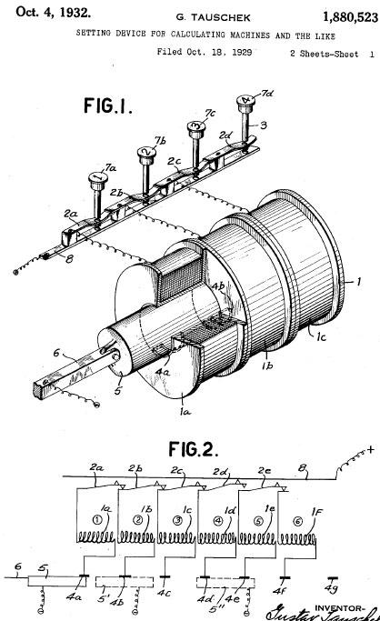 Blaupause für die US Patentanmeldung