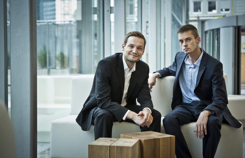 Präzision gehört zu ihrer Unternehmens-DNA: Die Ubimet-Firmengründer Michael Fassnauer (l.) und Manfred Spatzierer