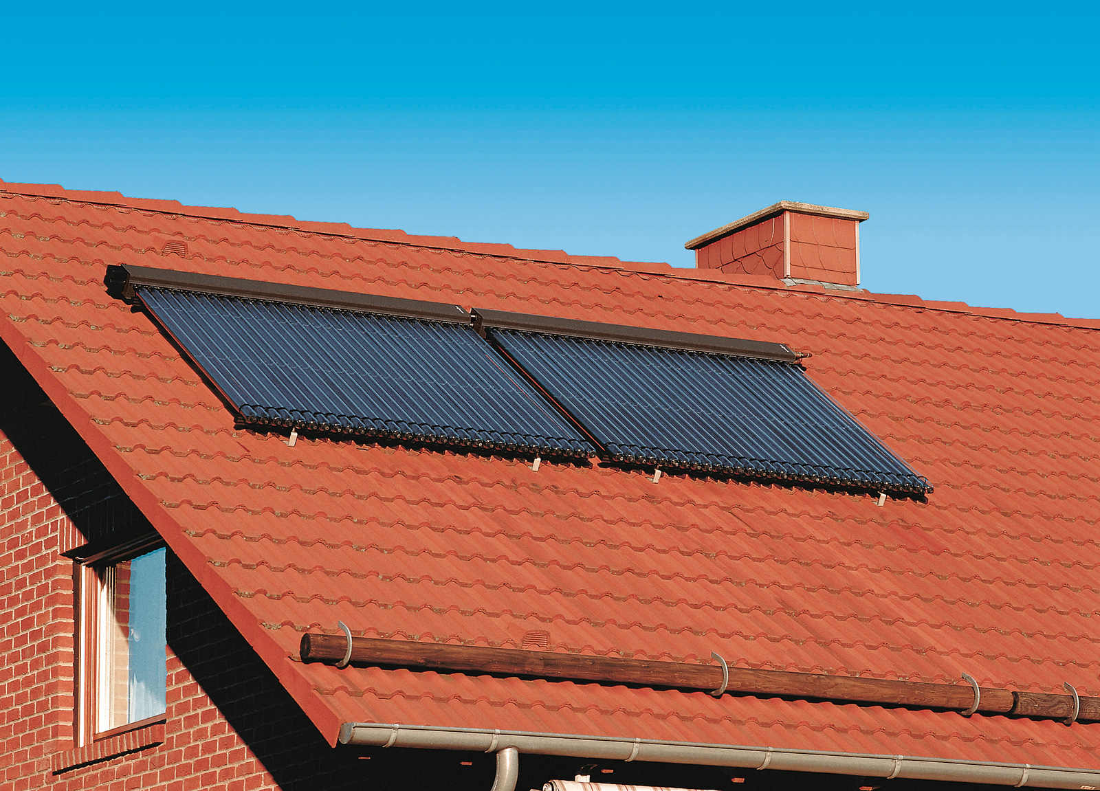 Sonnenkollektoren für Heizung und Warmwasser