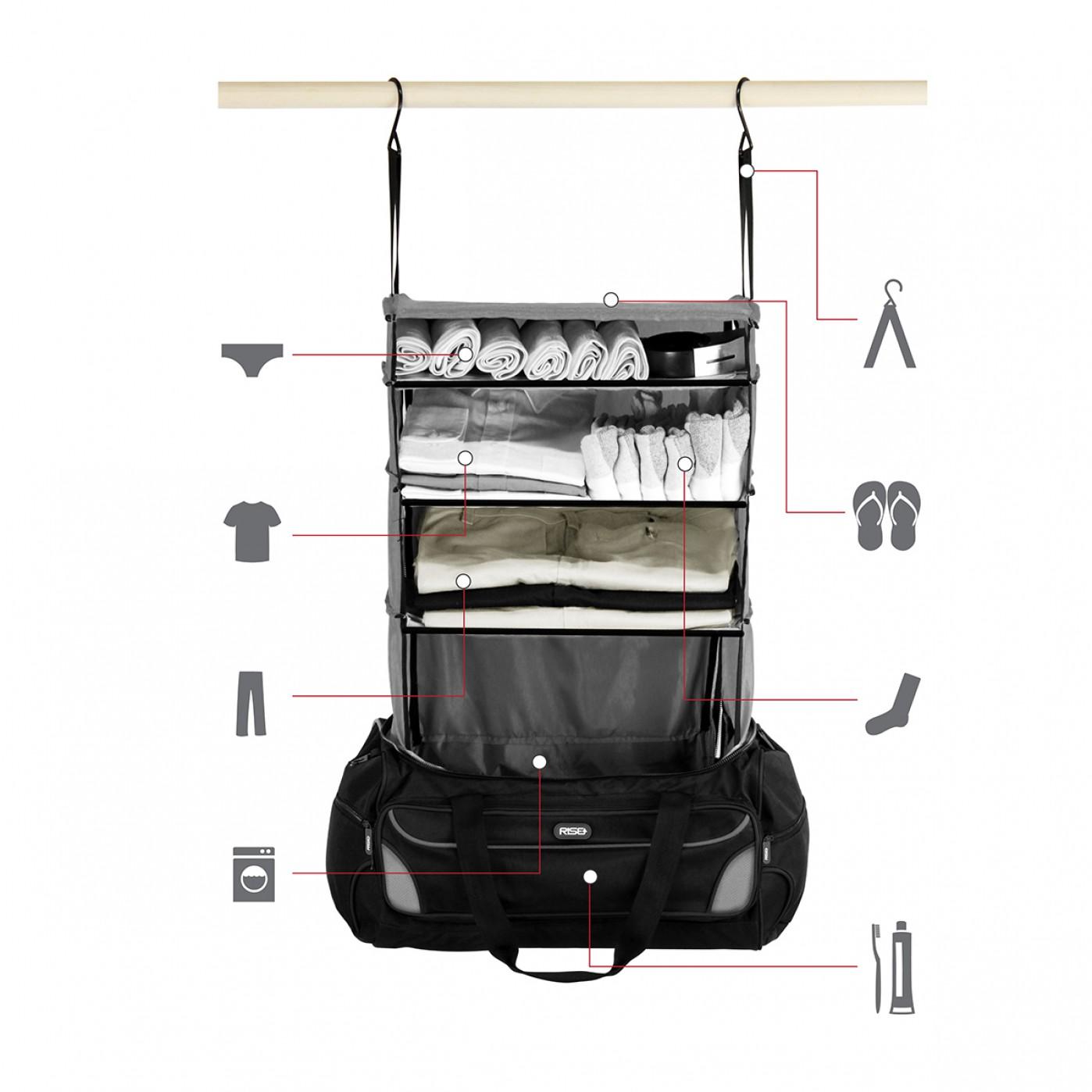 gut sortiert ans ziel mit der weekender reisetasche. Black Bedroom Furniture Sets. Home Design Ideas