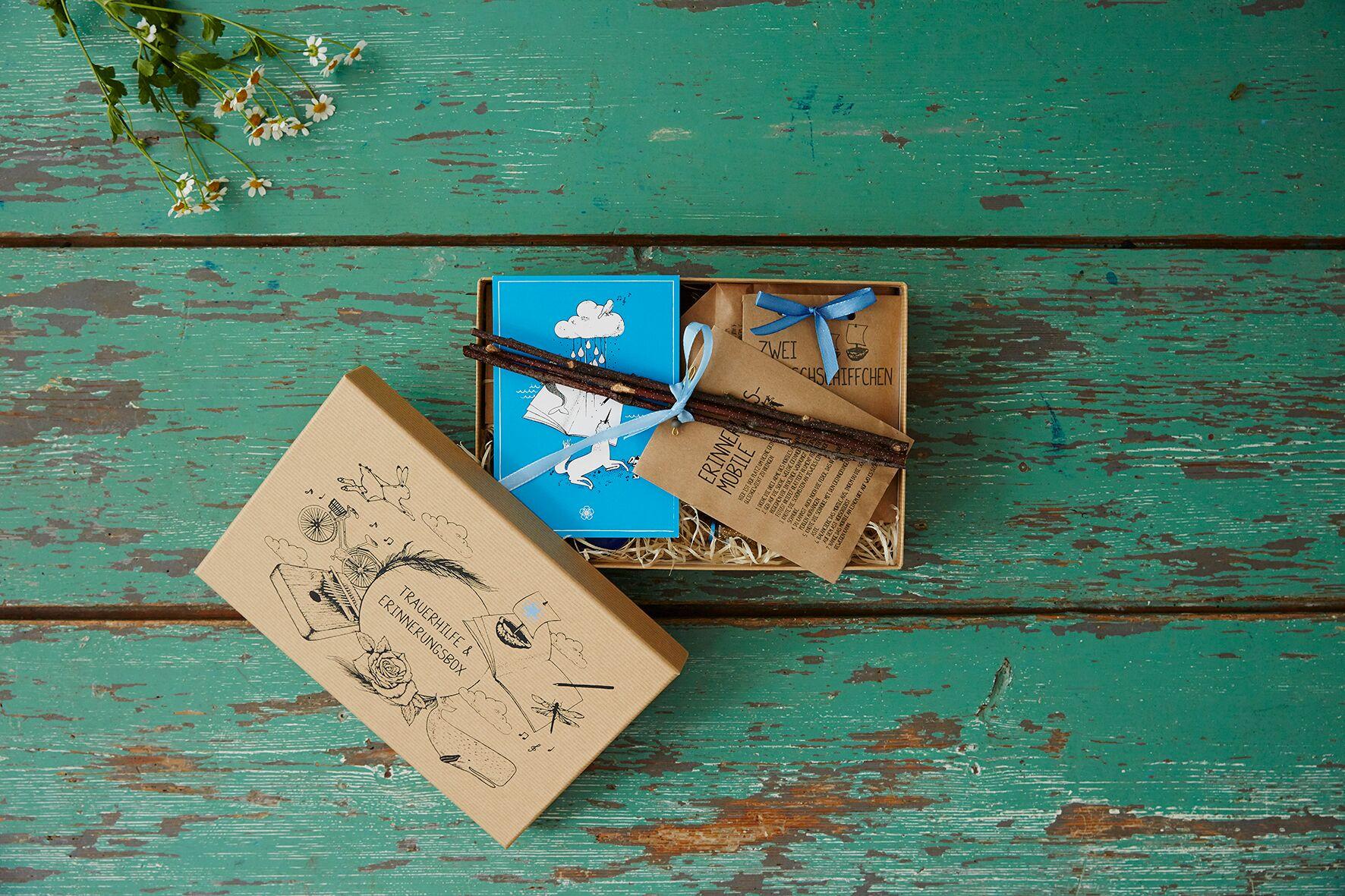 Trauerhilfe: Die Erinnerungsbox enthält Tipps und Bastelanregungen.