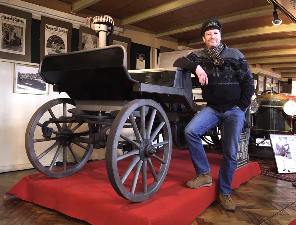 Der Nachbau des zweiten Marcus-Wagens ist das Highlight der Ausstellung