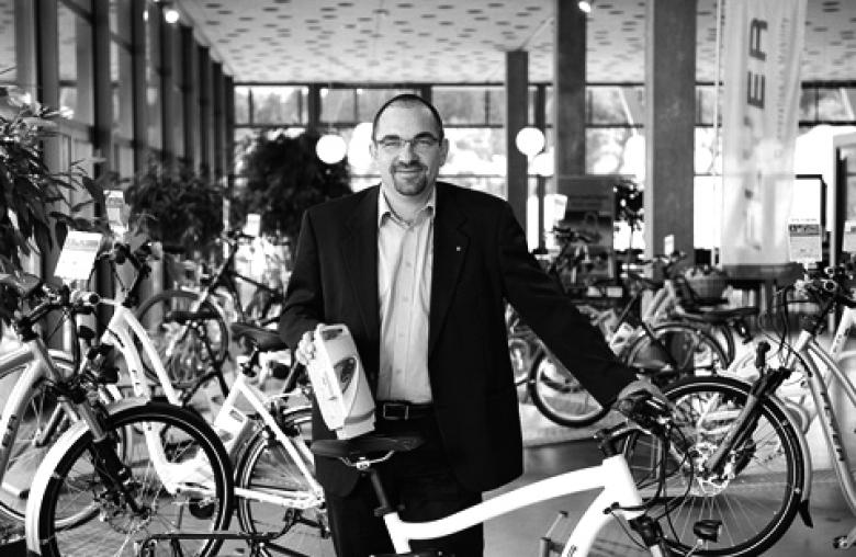Machte das E-Bike populär: der Schweizer Kurt Schär mit der Marke Flyer