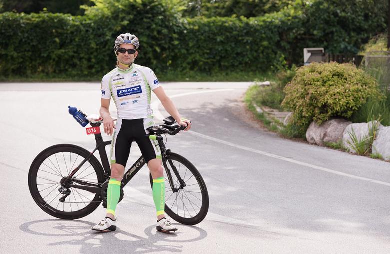 Als Extremradsportler ist Thomas Jacklitsch erfolgreich.