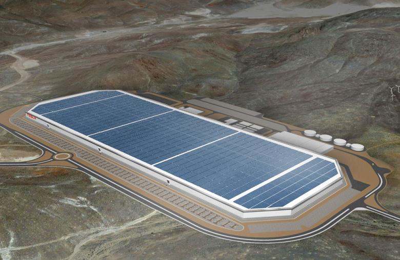 Batterieproduktion ab 2017 im großen Stil: Mit einer Fabriknutzfläche von einer Million Quadratmetern wird Teslas Gigafactory im US-Bundesstaat Nevada das größte Fertigungsgebäude der Welt sein.