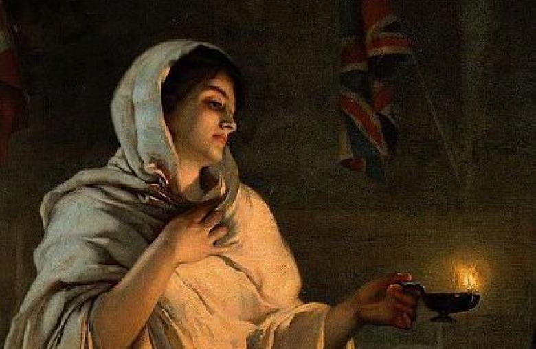 """Florence Nightingale wird auch """"Die Lady mit der Lampe"""" genannt."""
