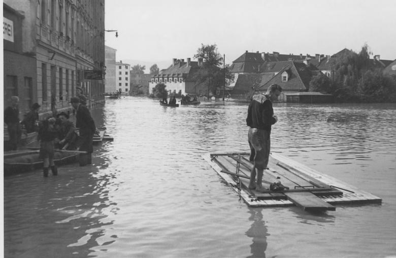 Glück im Unglück: 1954 erwischte es die oberösterreichische Landeshauptstadt nicht ganz so schlimm wie 1501.