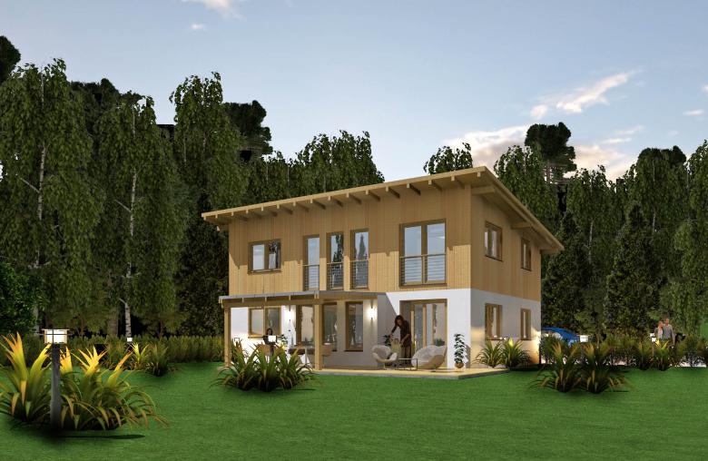 Leonardohaus bietet den Kunden drei Fertigteil-Haustypen, sowie eigenständige Planungen.