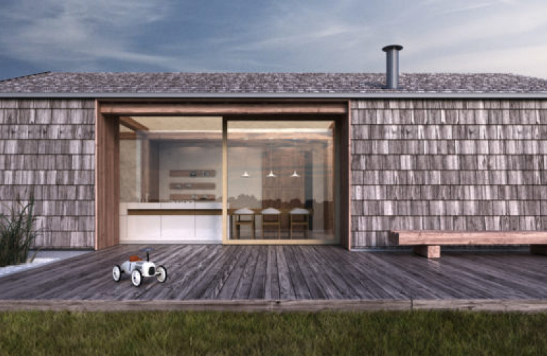 Microloft bietet zwei Modelle mit unterschiedlichen Außenwänden an.