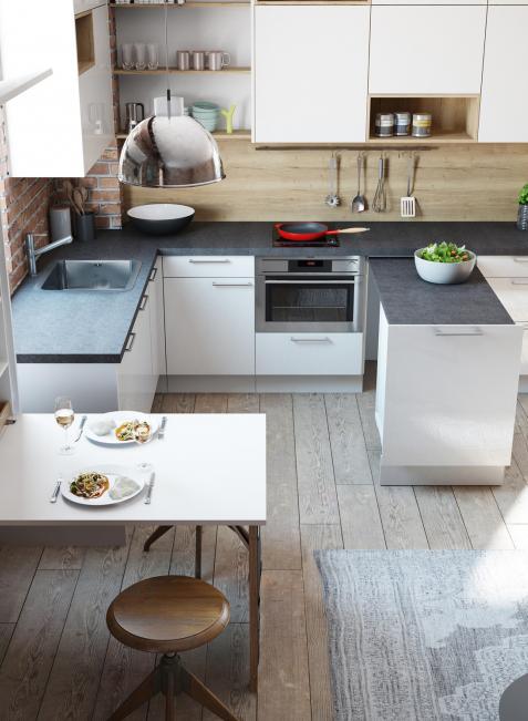 Raumwunder Küche: Viel Platz auf wenigen Quadratmetern schafft man mit pfiffigen Lösungen.