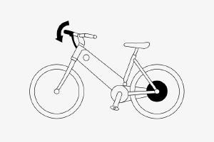 Schema eines E-Bikes mit manueller Zuschaltung
